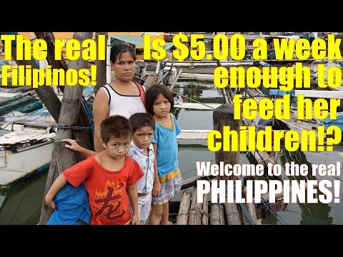 Travel to the Philippines and Meet the Real Filipinos. Poverty in Manila. Meet Sheryl and Her Kids