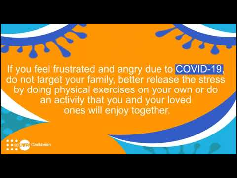 AUDIO message from UNFPA Caribbean during #COVID19 pandemic: Release your stress