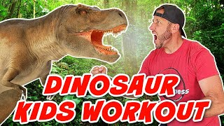 Dinosaur Exercise For Kids   Simon Says T-Rex Battle Workout