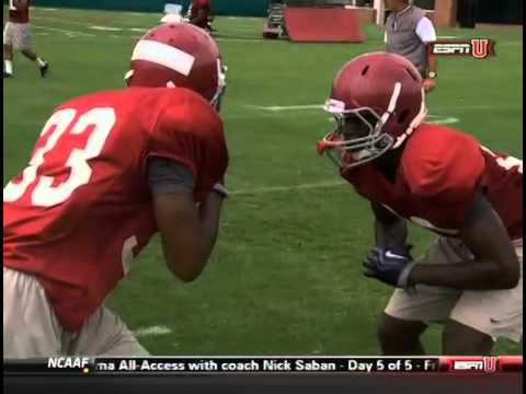 Bama Defensive Back Drills