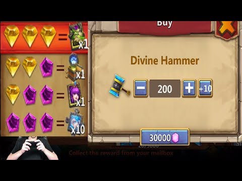 Slot Machine INSANE Rewards Lvl 5 Revitalize SET Smashing 30k Castle Clash