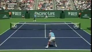 IW 06 F Federer vs Blake Highlights Pt1