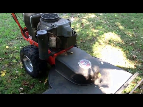 The DR Brush and Field Mower, and a hornet nest