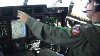 Hurricane Bill warning flight