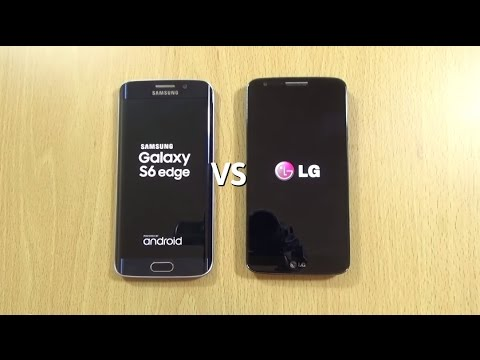 Galaxy S6 Edge VS LG G2 Official Lollipop - Speed Test!