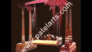 Wooden Swings, Wooden Carved Swings, Traditional Indian Swing, Handcarved Wood Swing, Swings, India