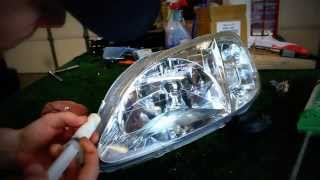 How to repair a headlight with moisture/water in it!