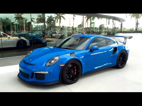 2016 Voodoo Blue Porsche 911 GT3 RS 500hp Paint to Sample @ Porsche West Broward