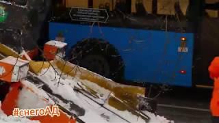 Рыжие коты чистят Москву от снега!! #снегоАД