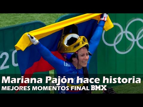 MARIANA PAJÓN triple medallista olímpica MEJORES MOMENTOS final ciclismo BMX ????????????