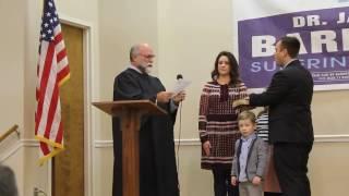 Dr. Jason Barnett Swearing in Ceremony January 1, 2017 of DeKalb County Alabama Schools