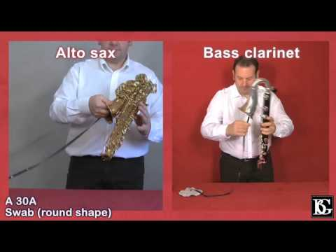 How to swab or pull through the Alto Saxophone Body