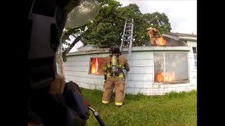 House Fire, Burn to Learn, Lots of Fire! GoPro Hero2 Flashover! Backdraft!