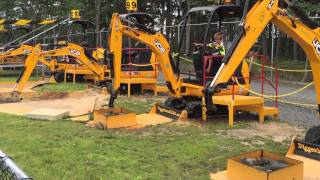 Diggerland, USA, Construction Theme Park, Excavators, Tractors, Back Hoes