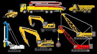 Construction Vehicles 2 - Trucks, Cranes, Excavators & More - The Kids' Picture Show