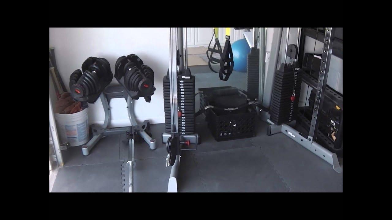 Home gym garage ideas tour youtube