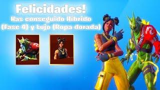 GAMEPLAY con la SKIN de HÍBRIDO al MÁXIMO!! FORTNITE 🔥😱