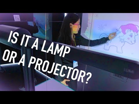 This Lamp Hides a Projector and Full Computer + Car Wink