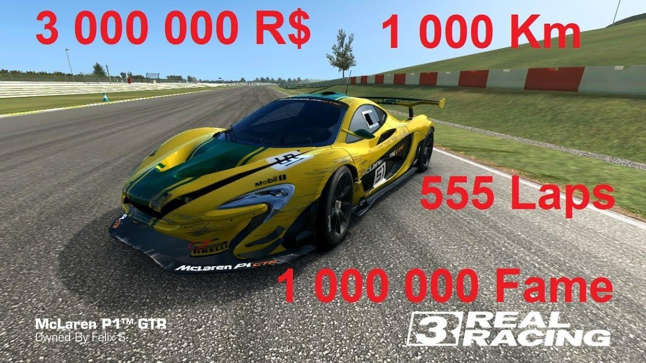 real racing 3 - mclaren p1 gtr - endless endurance 1000 km or 555