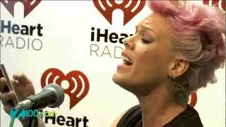 "Pink - "" Fuckin' Perfect "" acoustic performance @ Z100 on July 10,2012"