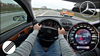 Mercedes-Benz E-Class E280 CDI W211 TOP SPEED DRIVE ON GERMAN AUTOBAHN 🏎