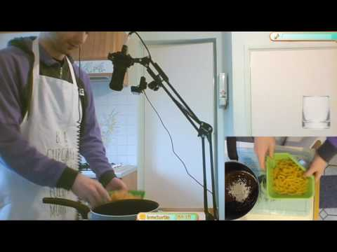 Neil helps me make a tuna pasta bake