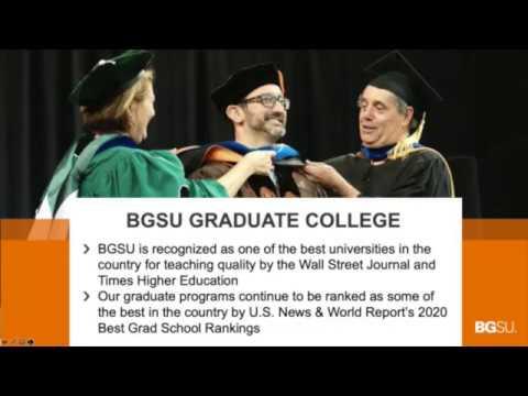 Bgsu Graduation 2020.Bgsu Graduate Programs Webinar