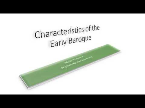 Characteristics of the Early Baroque