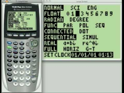 how to show degrees on a graphing calculator