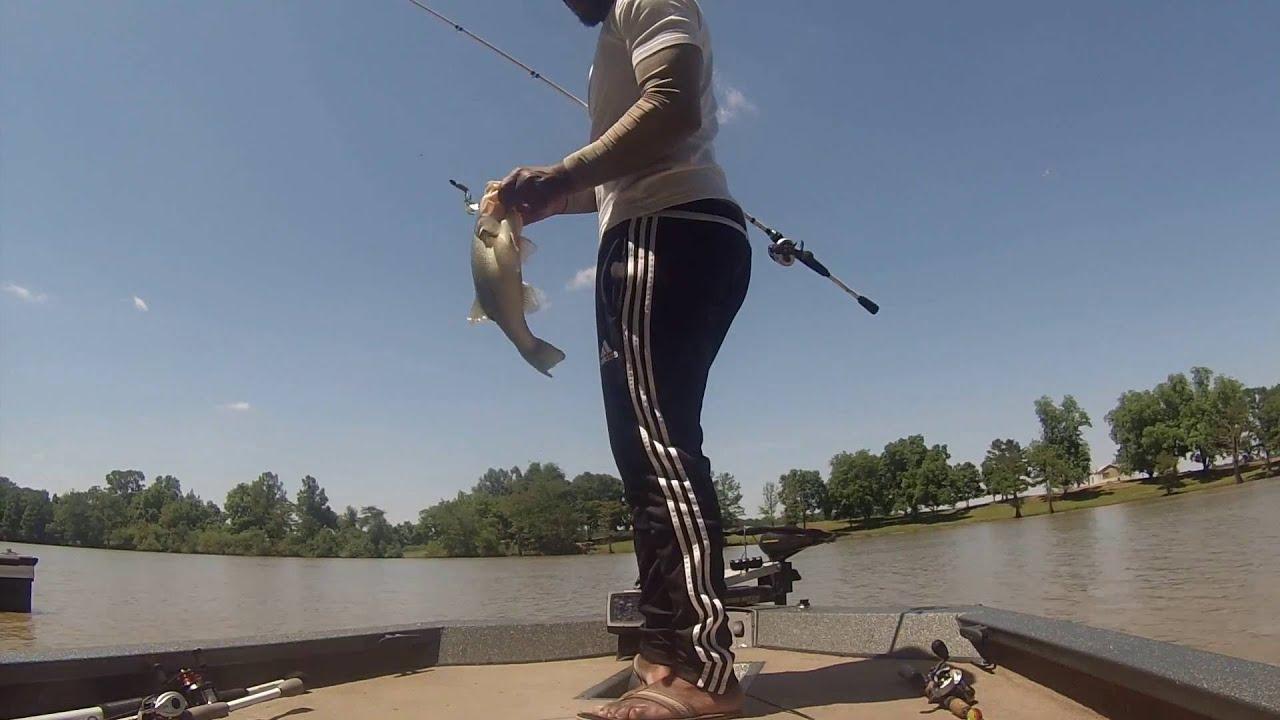 A Day Bass Fishing On Wolf Lake Youtube
