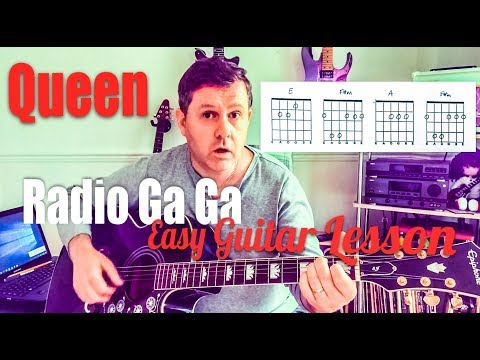 Radio Ga Ga - Queen - Easy Guitar Lesson (Chord Boxes)