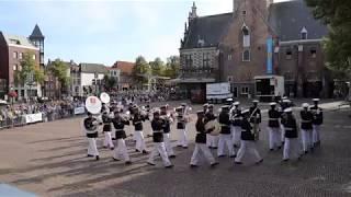 Taptoe Alkmaar 2019 korps presentatie op het Waagplein