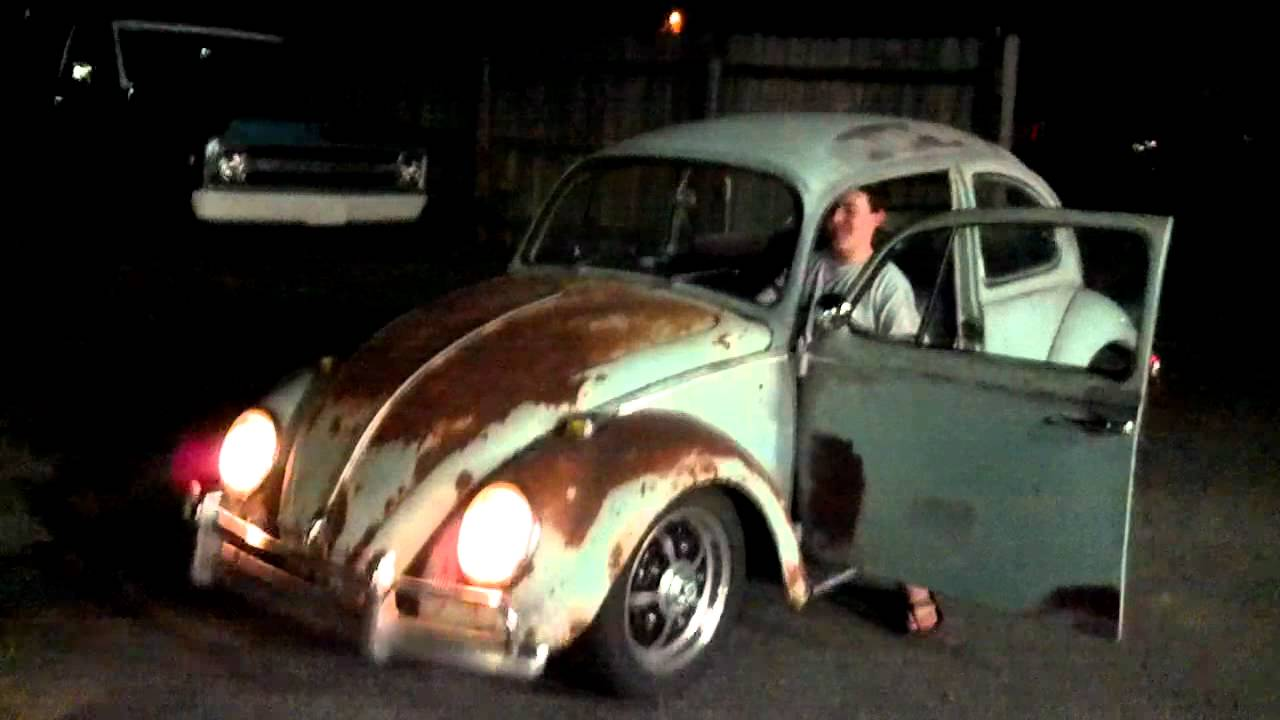 1966 Volkswagen Beetle unrestored / lowered - THE RUST BUCKET - YouTube