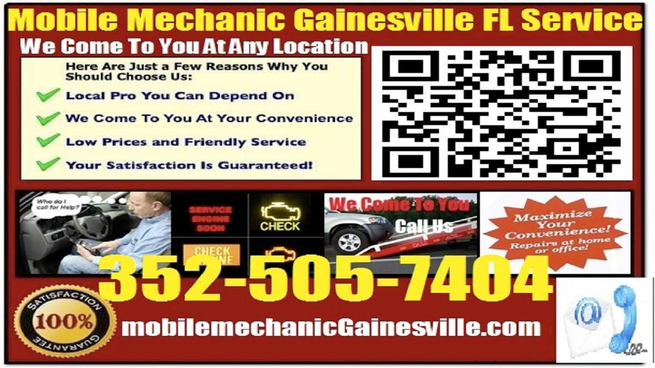 Mobile Mechanic Gainesville FL Pre Purchase Auto Car Inspection Service