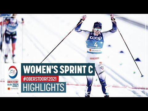 Sundling powers to gold   Women's Sprint C   2021 FIS Nordic World Ski Championships