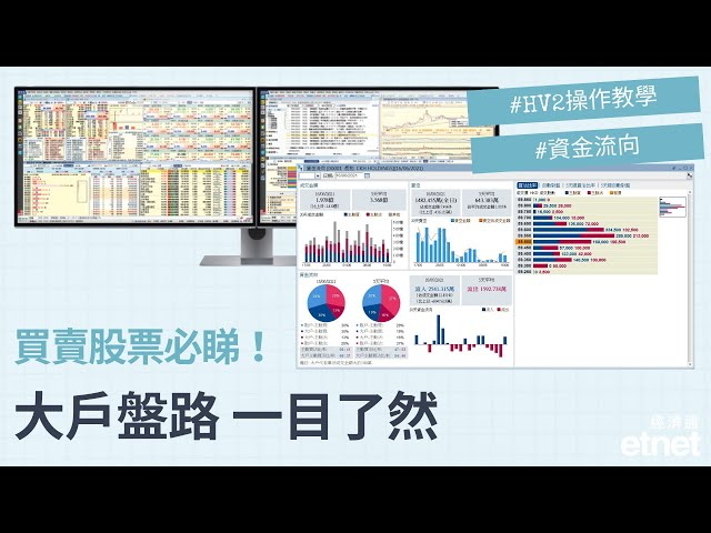 【HV2操作教學 - 資金流向】買賣股票必睇!大戶盤路 一目了然🚨
