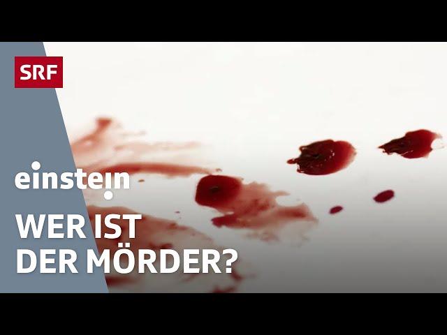 Dem Mord auf der Spur: So jagt die Wissenschaft Verbrecher | SRF Einstein