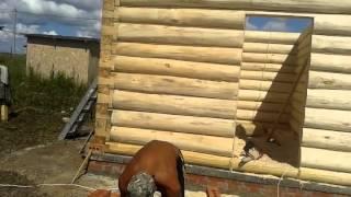 Устройство деревянных роек. Установка дверей в срубе(Сруб постоянно садиться, поэтому при установке дверей необходимо соблюдать специальную технологию усадки...., 2015-08-01T09:47:50.000Z)