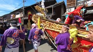 平成30年 富田の鯨船 北島組 神社丸 町練り