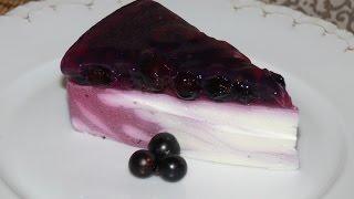 Творожный желейный торт без выпечки
