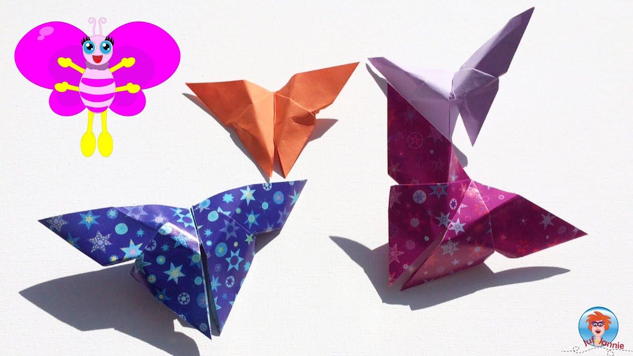 Fun Origami Vlinder Vlinders Vouwen Van Papier Youtube