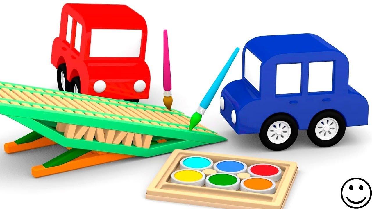 dessin anim ducatif pour enfants de 4 voitures nouvel aire de jeux. Black Bedroom Furniture Sets. Home Design Ideas
