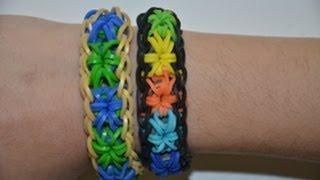 מדריך להכנת צמיד כוכב מתפוצץ מגומיות - How to make starburst bracelet