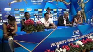 01-10-2014: Press Conference post DOM-BEL Charlotte Leyss (Captain BEL)