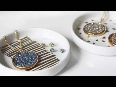 Quick DIY Video: How to Make Faux Druzy Jewelry