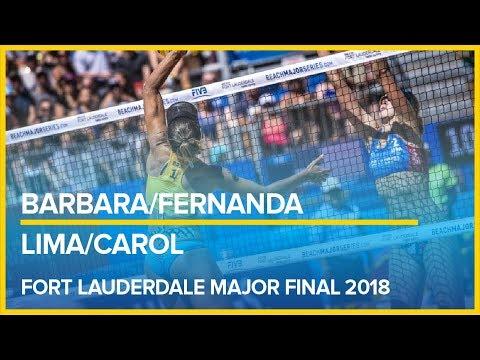 Barbara/Fernanda vs Lima/Carol FORT LAUDERDALE MAJOR  FINAL 2018