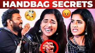 Actress Lakshmi Handbag Secrets Revealed by Vj Ashiq | What's Inside the Handbag?