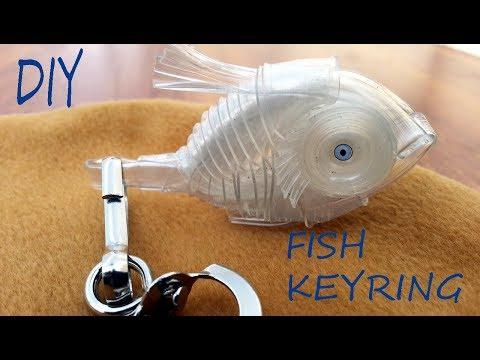 how to make fish key-ring using drip set
