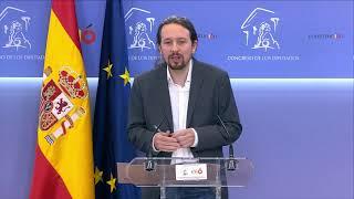 Declaraciones de Pablo Iglesias tras la reunión con el rey