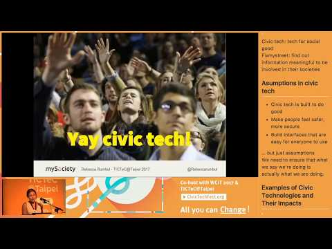 『CivicTechFest』Welcome to TICTeC@Taipei and Civic Tech Fest & What is Civic Technology? How and Why